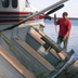 Unloading a boat at the dock
